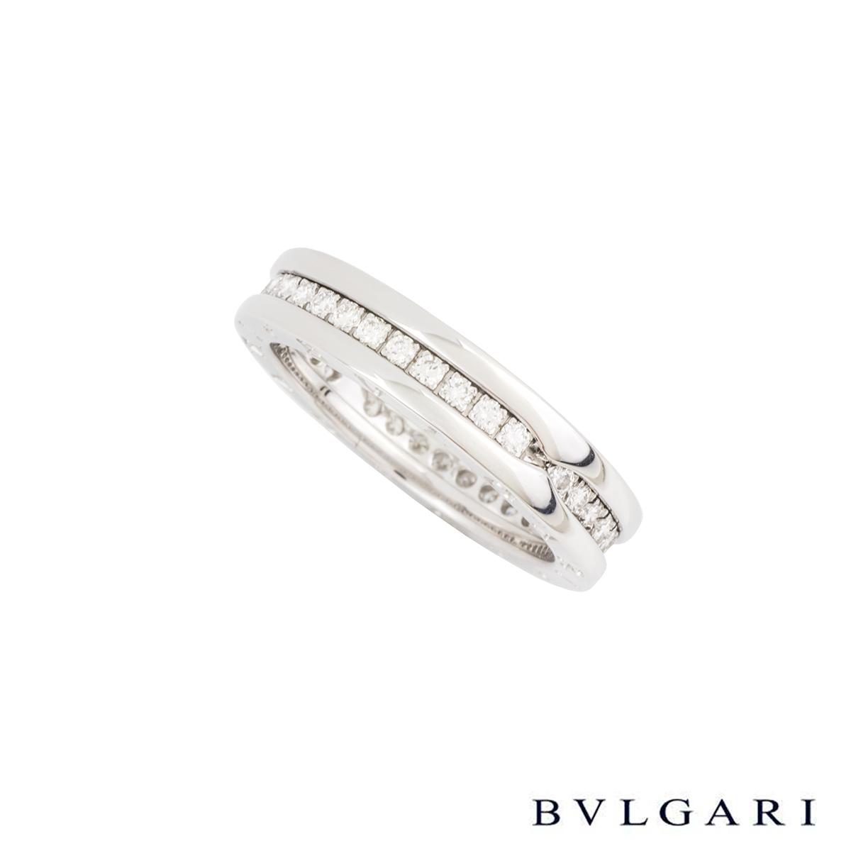 Bvlgari White Gold Diamond Set B.Zero1 Ring AN850656